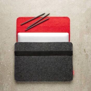 Laptop taske i rød