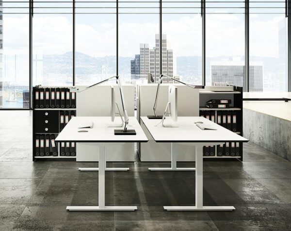 Fumac SQUARE skrivebord fast stel rektangulær