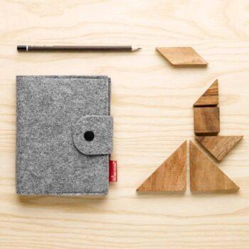 Notesblok i grå