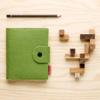 Notesblok i grøn