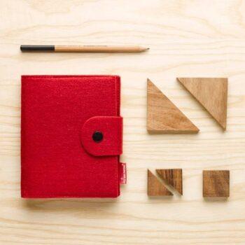 Notesblok i rød